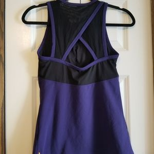 💜 2 for $25 Lucy purple mesh workout tank